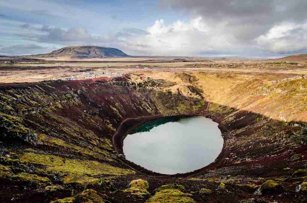 Kerið crater on the Golden circle in Iceland