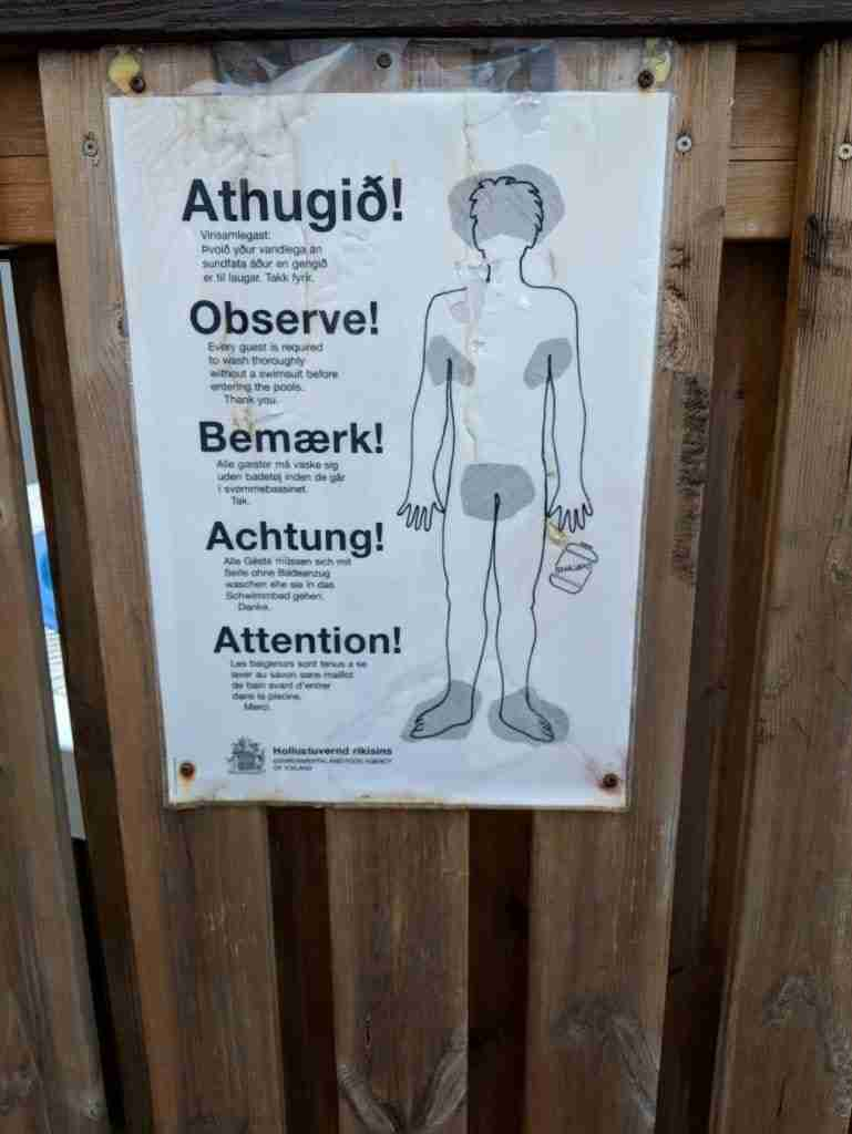 swimming etiquette in Iceland