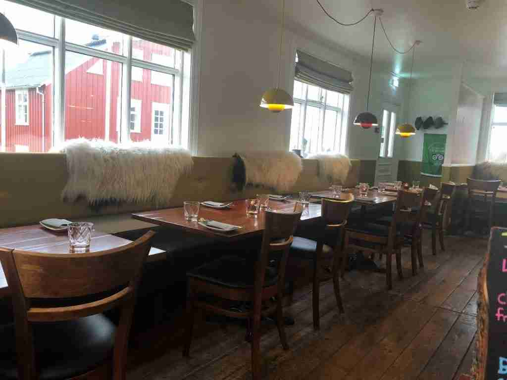 charming restaurant in stykkishólmur