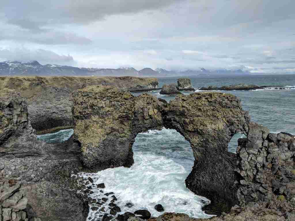 Gatklettur cliff in snæfellsnes peninsula in iceland