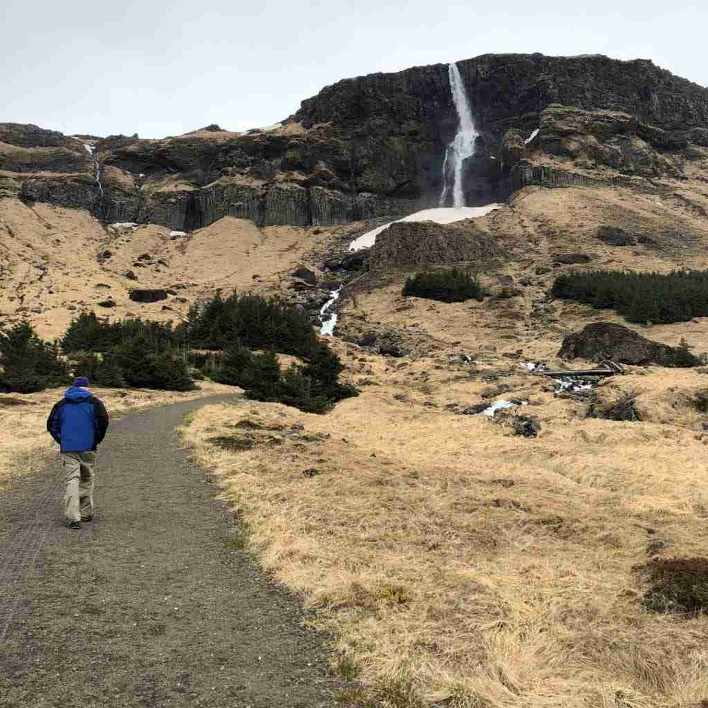 Bjarnafoss waterfall in snæfellsnes iceland