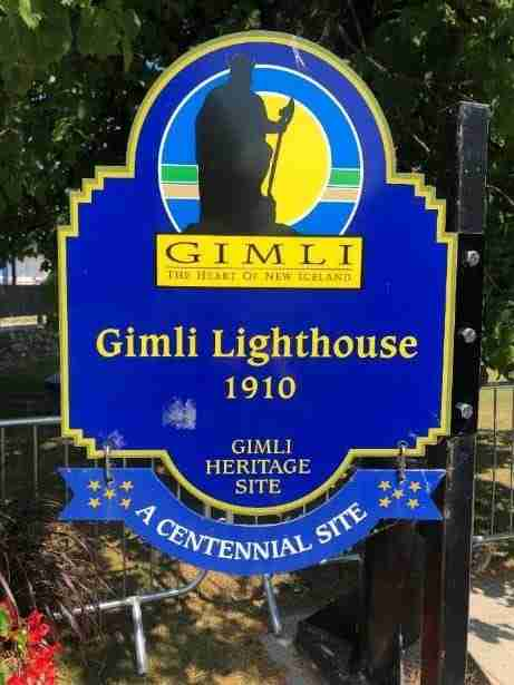 Gimli lighthouse sign
