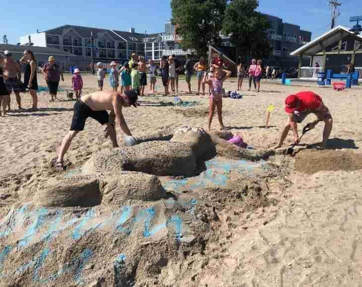Gimli festival sandcastle contest