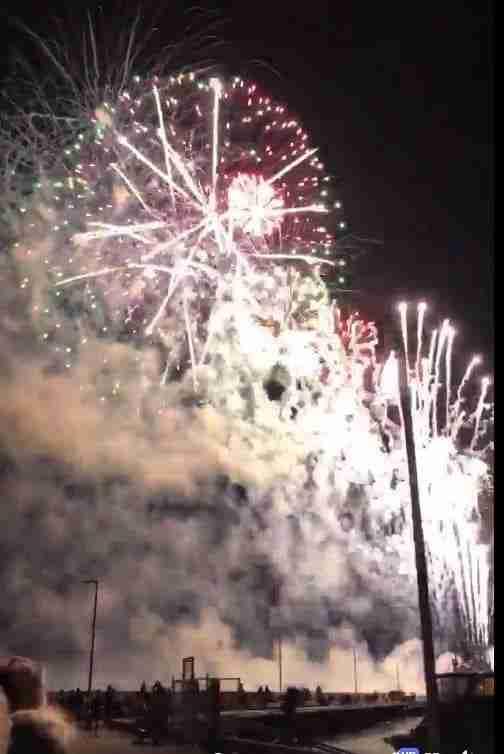 Gimli festival fireworks