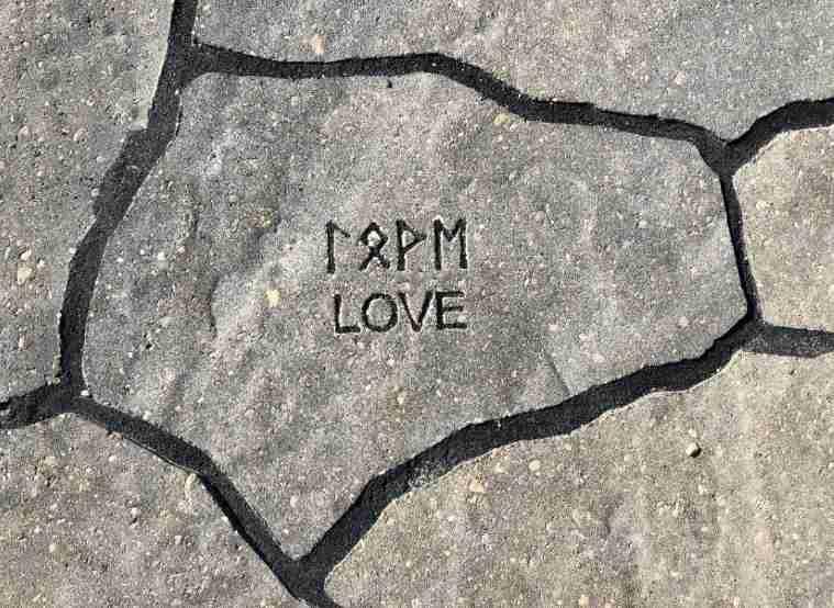 pathway stone with runes